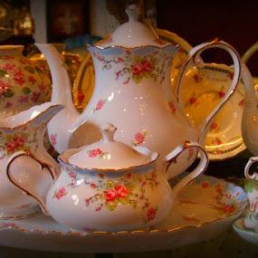 Tea Set by Rhonda Kay - Artistic Objects Cups, Plates & Utensils