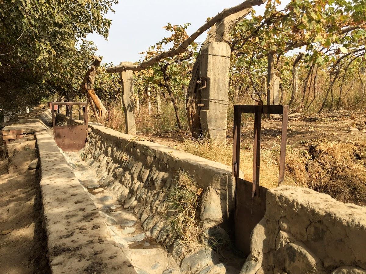 China. Xinjiang Turpan . Irrigation System