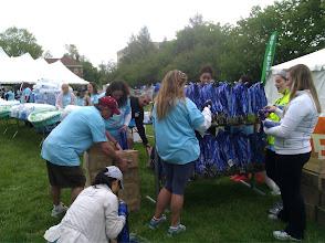 Photo: Preparing the medals
