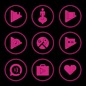 Pink On Black Icons By Arjun Arora