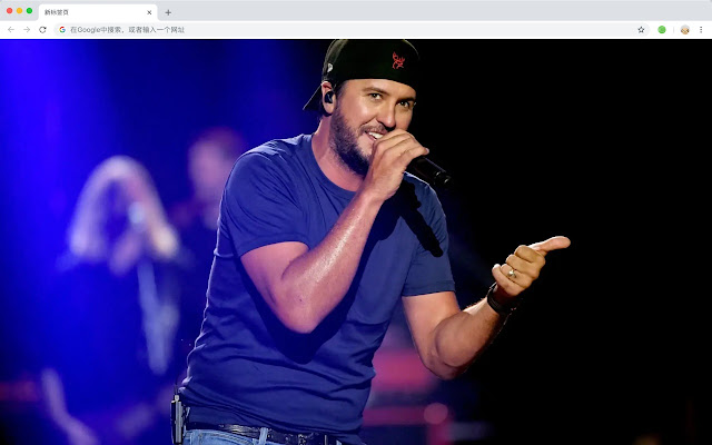 Luke Bryan New Tab Page Pop Wallpaper Theme