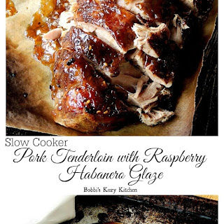 Slow Cooker Pork Tenderloin with Raspberry Habanero Glaze