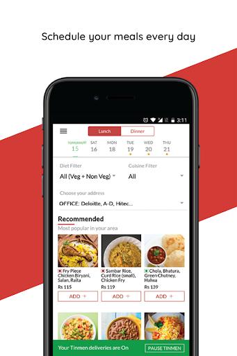 TinMen Homely Food Ordering  screenshots 2