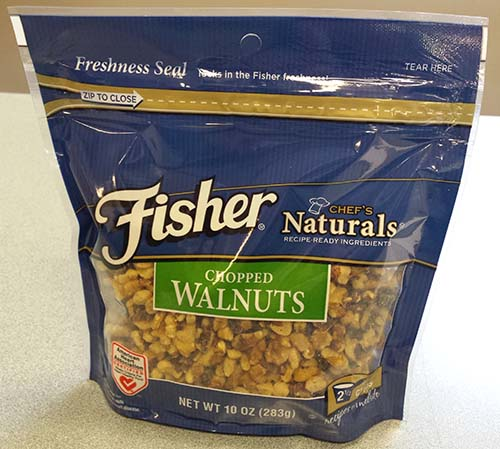 Fisher, Chef's Naturals, Chopped Walnuts, 10 oz. bag, front of package