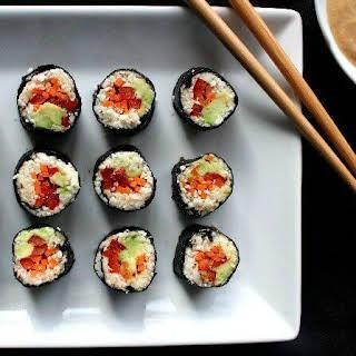 Grain-free Sushi Maki Rolls.