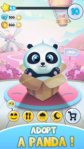 Pu - Cute giant panda bear, baby pet care game Appar (APK) gratis nedladdning för Android/PC/Windows screenshot