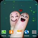 Cute love fingers wallpaper icon