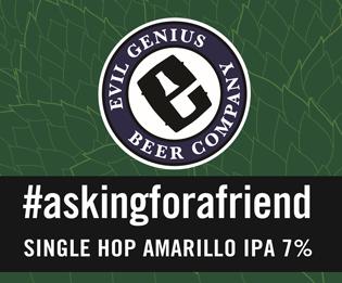 Logo of Evil Genius #Askingforafriend