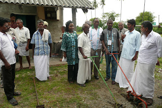 Photo: Weeder display at IAMWARM Project during 2010 visit of African delegation to India [Photo Courtesy of Bancy Mati]