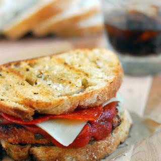 Bacon Cheddar Pizza Chicken Sandwich.