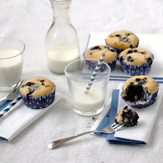 Low-Carb Blueberry Muffins.