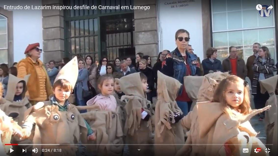 Vídeo - Entrudo de Lazarim inspirou desfile de Carnaval em Lamego