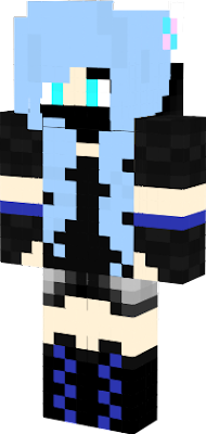 Here is Sapphire! A Blue haired fox girl wearing a ninja outfit! (I originally made this skin, because I wanted to see if I could change things up a bit) :D Hope you like it! -SaffhireFox