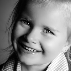 First day of school by Vix Paine - Babies & Children Child Portraits ( blackandwhite, headshot, girl, school, beauty,  )