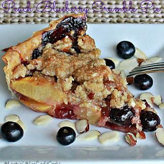 Peach Blueberry Crumble Pie