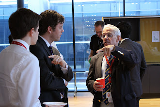 Photo: Alex Jarema, Chris Brooks and Prof Jonathan Serpell (making a point here)