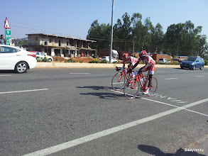 Photo: Loki and Ambi crossing the line at 3rd and 4th.. Laxman finished right behind Sridhar..