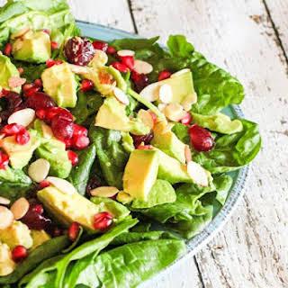 Holiday Avocado, Pomegranate Spinach Salad & Rachael Ray Stoneware #Giveaway #HolidayRecipes.