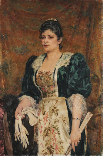 Portrait of the actress VIrginia