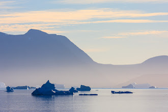 Photo: Early morning icebergs