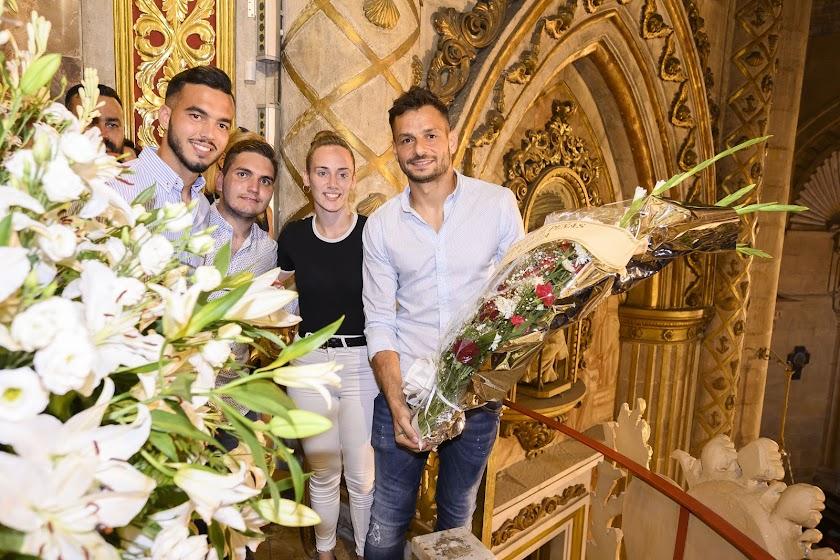 Ofrenda floral del Almería