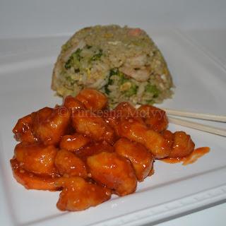 P.F. Chang's Orange Peel Chicken.