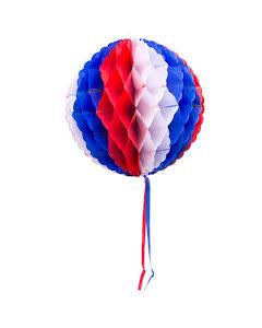 Dekorationsboll, röd/vit/blå 30cm