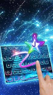 Klávesnice Neon Sparkly Star - náhled