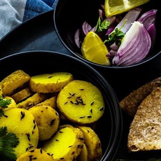 Cumin Potatoes - Jeera Aloo - National Curry Week 2016 Recipe