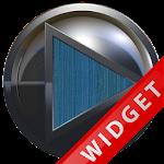 Poweramp Widget Lightblue Wood Icon