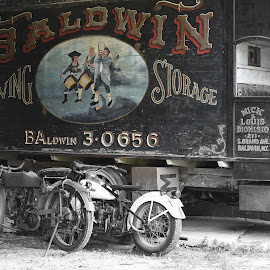 Baldwin Moving Truck by Lorraine D.  Heaney - Transportation Automobiles