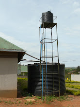 Photo: The clinic does rainwater harvesting. The water is then pumped to the higher tank so that there is running water in every room.