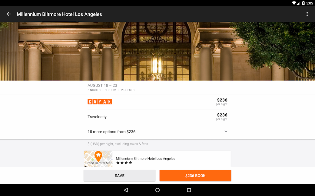 #11. KAYAK Flights, Hotels & Cars (Android)