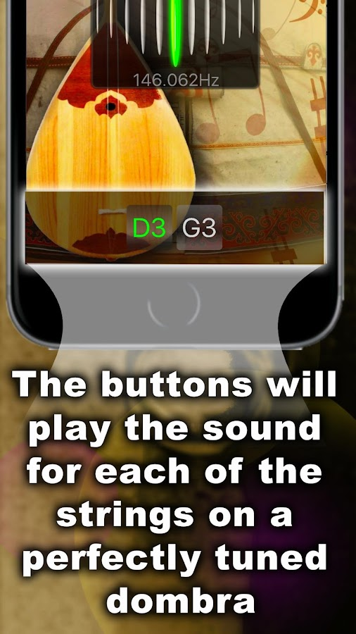 Chromatic Dombra Tuner- screenshot
