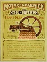 Photo: 1905 De Emer motoren-fabriek.