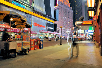 Photo: Times Square II - Light painting by Christopher Hibbert, french photographer and light painter. Further information: http://www.christopher-hibbert.com