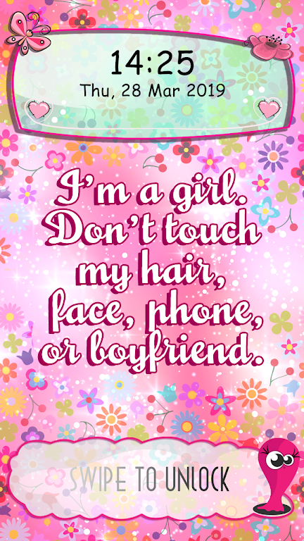Download Cute Girl Lock Screen Wallpaper With Quotes Apk