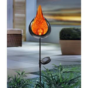 Lampa solara LED Hoff, cu decoratiune metalica, H 93 cm