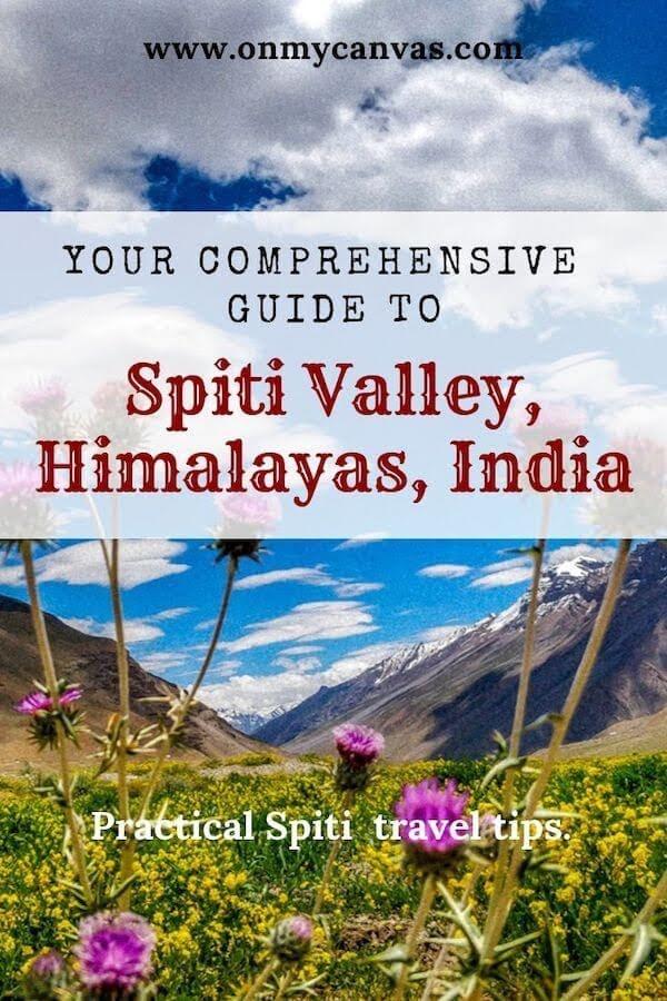 spiti valley travel blog pinterest image