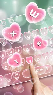 Bubbles Heart Keyboard Theme - náhled