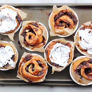 S'mores Buns with Marshmallow Frosting