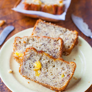 Pineapple Coconut Oil Banana Bread.
