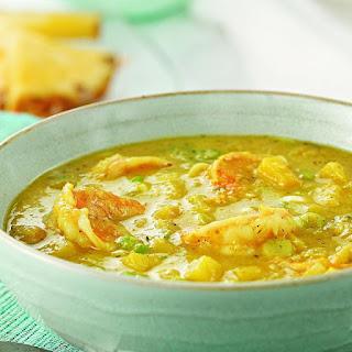 Jamaican Curried Shrimp & Mango Soup.
