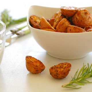 Roasted Potato Appetizer With Chive Sauce
