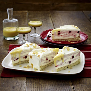 Almond, Advocaat and Cranberry Cake.