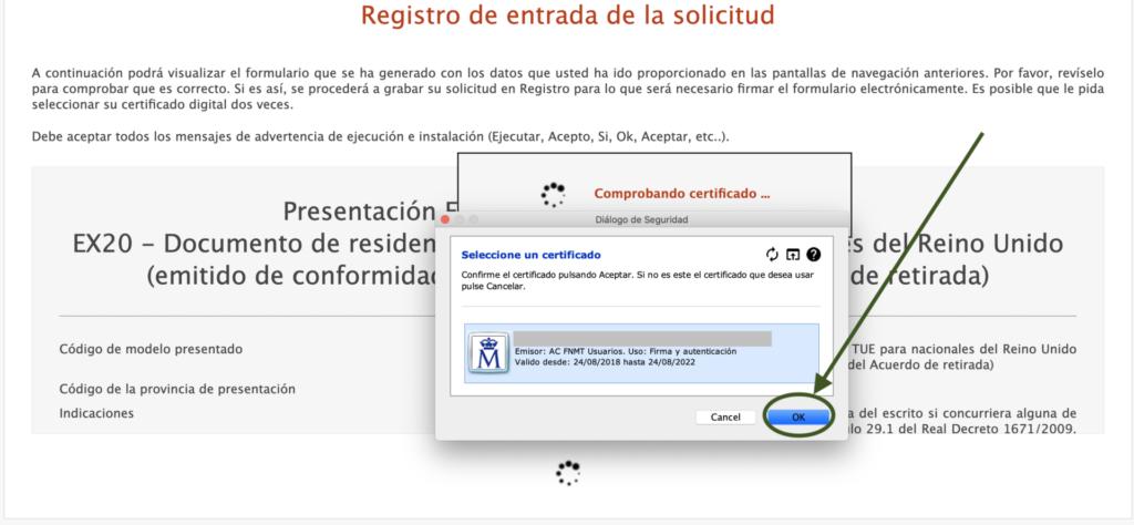 Autorizar Certificado Digital