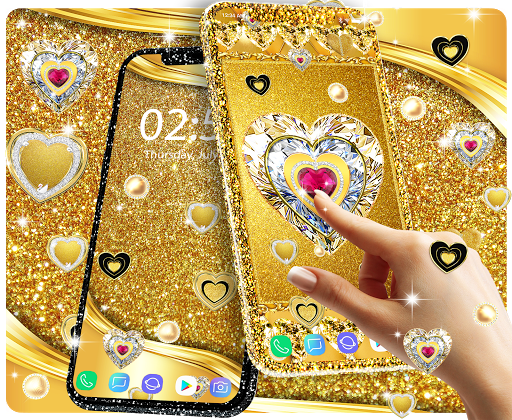 Gold live wallpaper 2020 android2mod screenshots 7