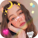 Live Face Sticker Sweet Camera & Beauty Snap icon