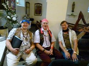 Photo: Well beaded basses James Harvey, Peter Polden and David Parkinson