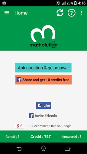 Matholution homework solver